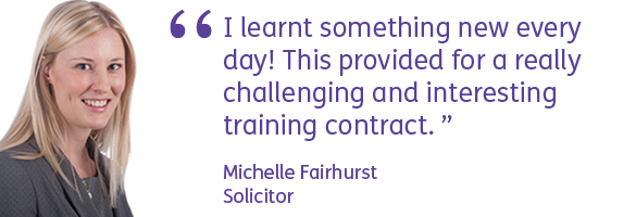 Michelle Fairhurst Training Contract