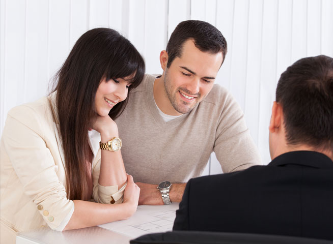 Couple in meeting