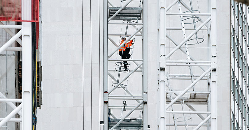 Keep safe when working from height and avoid falling from ladders