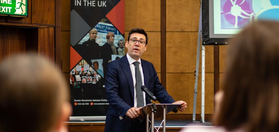 Action Mesothelioma Day Manchester | Andy Burnham