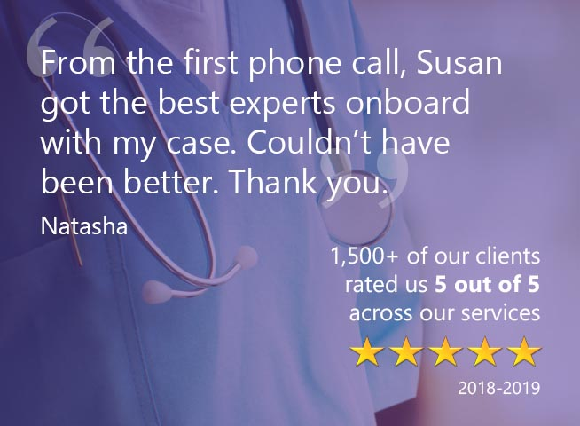 Medical and Clinical Negligence Reviews Testimonials